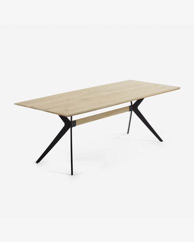 Amethyst Tisch 160 x 90 cm Eichenfurnier und schwarzen Stahlbeinen