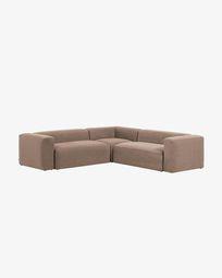 Pink Blok 4 seater corner sofa 290 x 290 cm