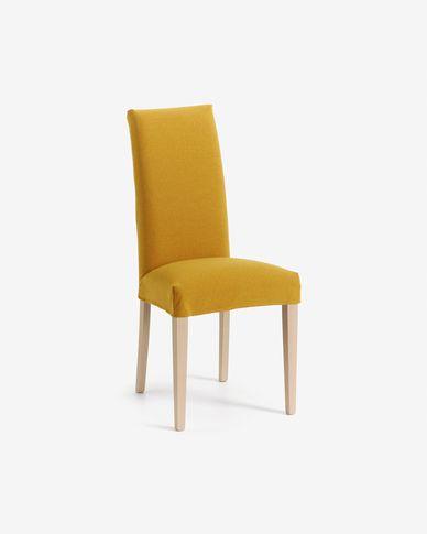 Mustard and natural Freda chair