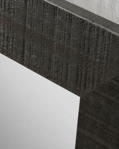 Specchio Seven 52 x 152 cm nero
