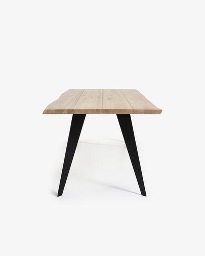 Koda table 180 cm bleached oak black legs