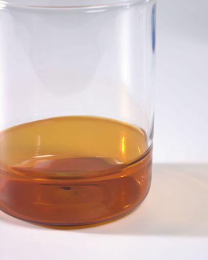 Verre Dorana en verre transparent et orange