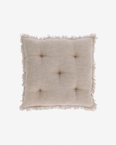 Coussin de chaise Brunela 100% coton beige 45 x 45 cm