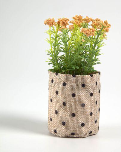 Planta artificial Leonitis leonurus con maceta de rafia 13 cm