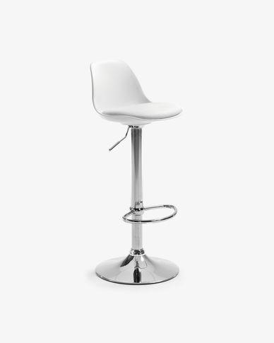 Tabouret Orlando-T blanc hauteur 60-82 cm