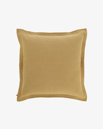 Mustard-yellow Maelina cushion cover 60 x 60 cm
