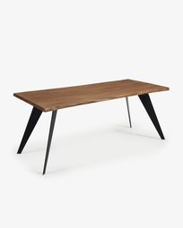 Koda table 180 cm antique oak black legs