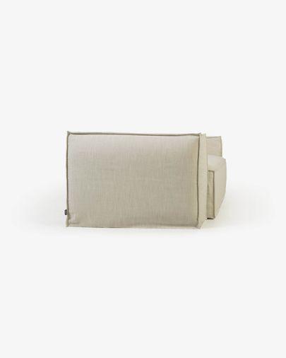 2-zitsbank Blok met afneembare bekleding in wit linnen 210 cm