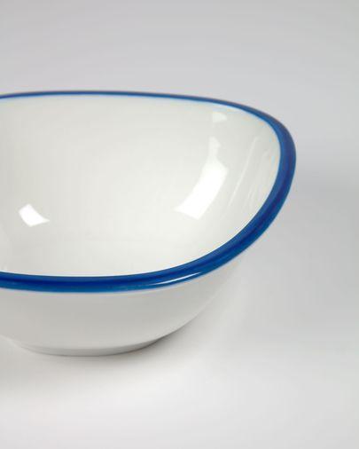 Odalin kleine Porzellanschale in blau und weiß