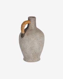Agle grey ceramic vase, 35 cm