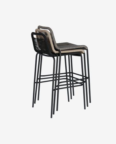 Lambton black stool height 74 cm