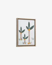 Quadro Uriana palmeiras multicolor 30 x 42 cm
