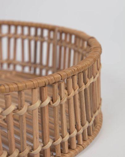 Set Coleen de 2 bandejas redondas 100% ratán con acabado natural