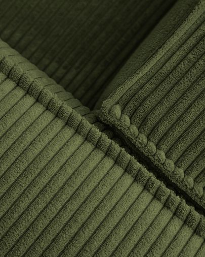Sofá rinconero Blok 4 plazas pana gruesa verde 290 x 290 cm