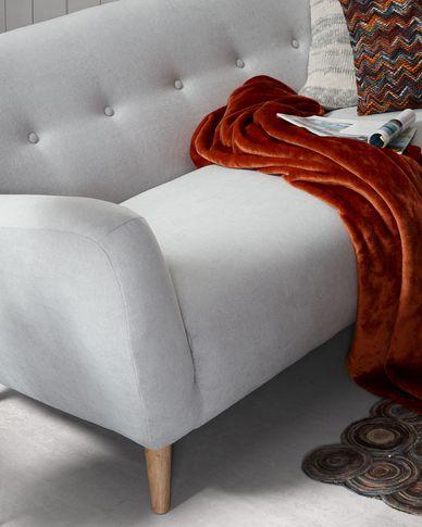 Sofa 3-osobowa Orby w kolorze jasnoszarym 190 cm