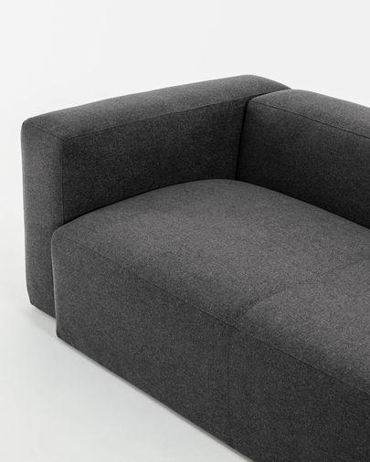 Canapé d'angle Blok 3 places gris 290 x 230 cm