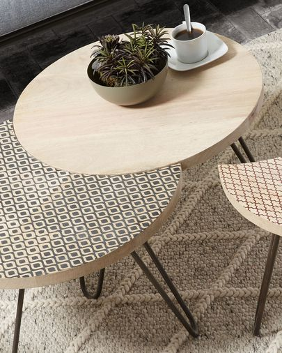 Houp set of 3 tables 134 x 39,5 cm