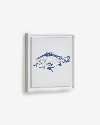 Quadre Lavinia peix blau 30 x 30 cm