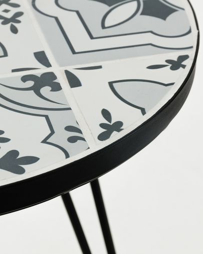 Tavolino Oswalda Ø 46 cm grigio