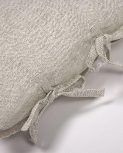 Capa almofada Tazu 100% linho bege 30 x 50 cm