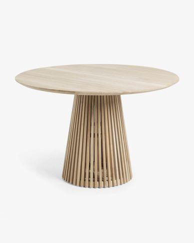Mesa redonda Jeanette madera maciza de teca Ø 120 cm