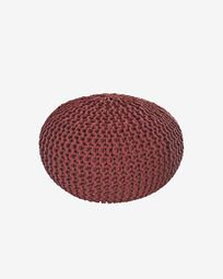 Kennis round pouffe in terracotta Ø 60 cm