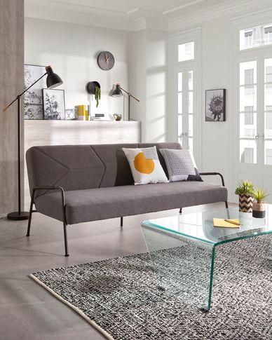 Neiela sofa bed in grey 180 cm