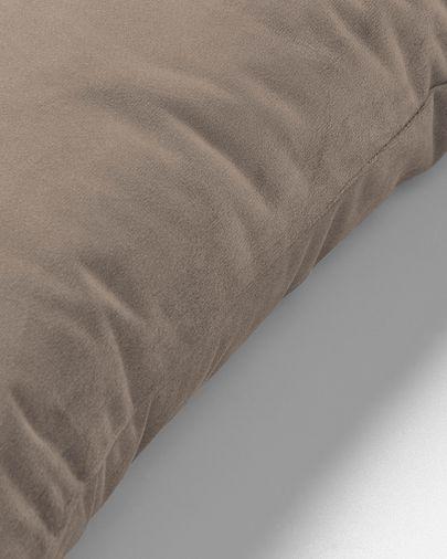 Capa de almofada Lita 45 x 45 cm veludo topo