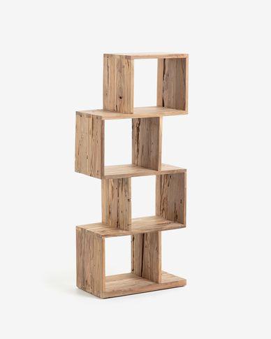 Regał Aroba z litego drewna tekowego pochodzącego z recyklingu 55 x 132 cm