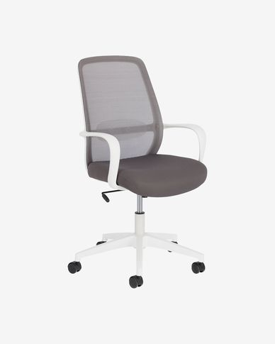 Melva office chair in grey