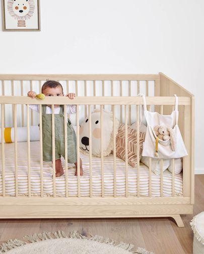 Cleonice 100% biologisch katoen (GOTS) opbergzakjes voor babybedjes