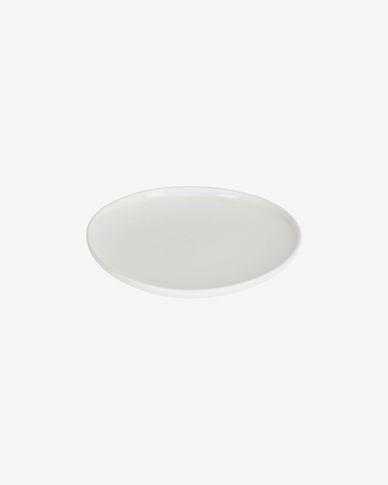 Piatto dessert Pahi rotondo porcellana bianca