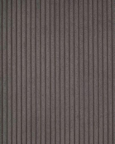 Divano ad angolo Blok 3 posti in velluto a coste grigio 290 x 230 cm