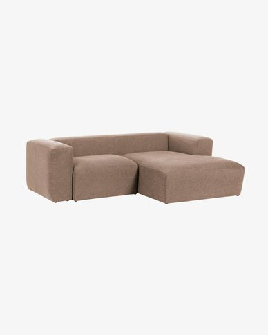 Divano Blok 2 posti chaise longue destro rosa 240 cm