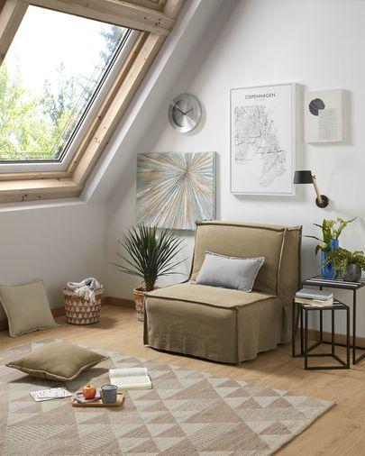 Lyanna sofa bed 90 cm brown