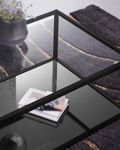 Blackhill black rectangular coffee table 110 x 60 cm