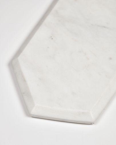Tabla de servir Claria en forma rectangular de mármol blanco
