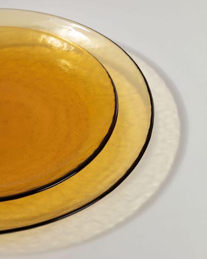 Plat Nausica de vidre taronja