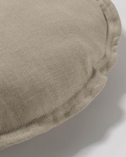 Beige Maelina cushion cover Ø 45 cm