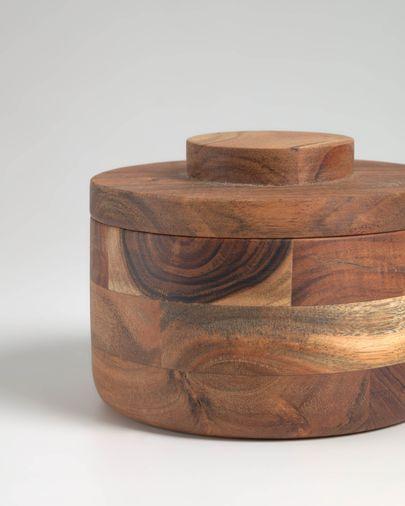 Bote Castalia de madera maciza de acacia