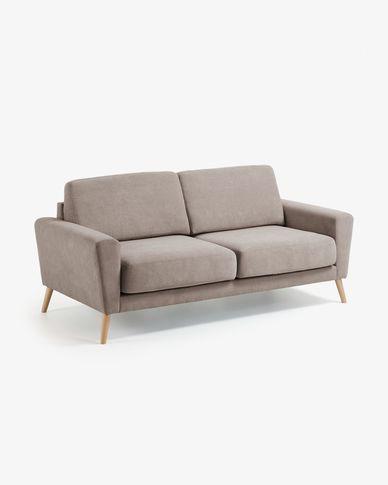 Narnia 3-seater sofa in beige 192 cm
