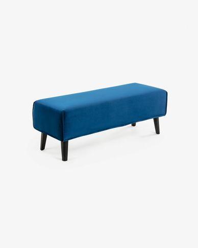 Bank Dyla blauw fluweel 111 cm