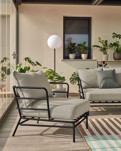 Mareluz black steel armchair