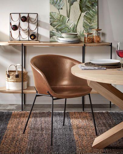 Table Lotus Ø 120 cm bois
