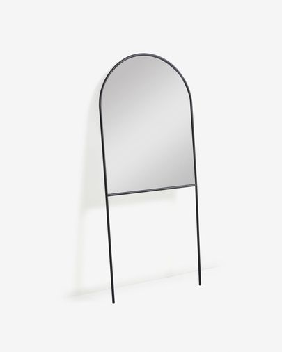 Nazara black metal full-length mirror 70 x 161 cm