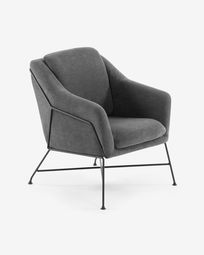 Graphite Brida armchair