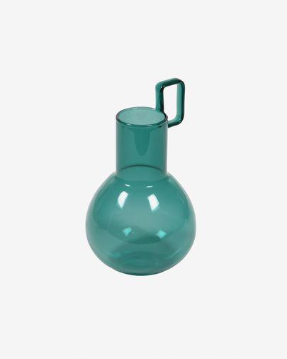 Vase Iarena verre turquoise 16,5 cm