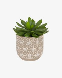 Planta artificial Cactus amb test de ciment 17 cm