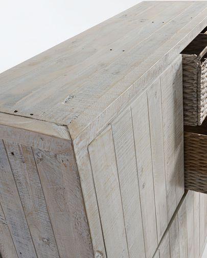 Aparador Words 117 x 140 cm madeira maciça de pinho reciclada