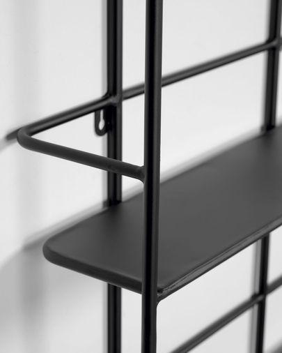 Najat black metal shelves 75 x 60 cm
